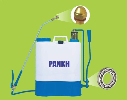 FarmEarth Hand and Manual Operated Agriculture Knapsack Sprayer with Brass Pressure Chamber 16L Tank