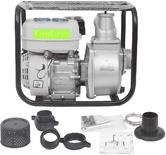 FarmEarth 6.5 HP 4 स्ट्रोक इंजन पेट्रोल स्टार्ट केरोसीन रन वाटर पंप सेट 3x3-इंच